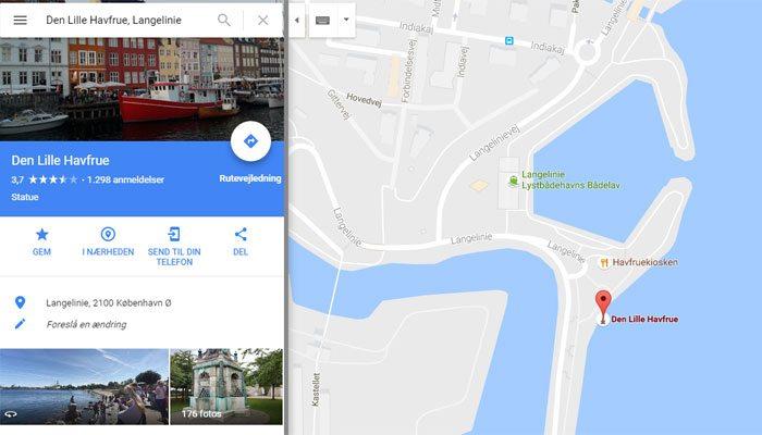 Adresse vist på Google Maps