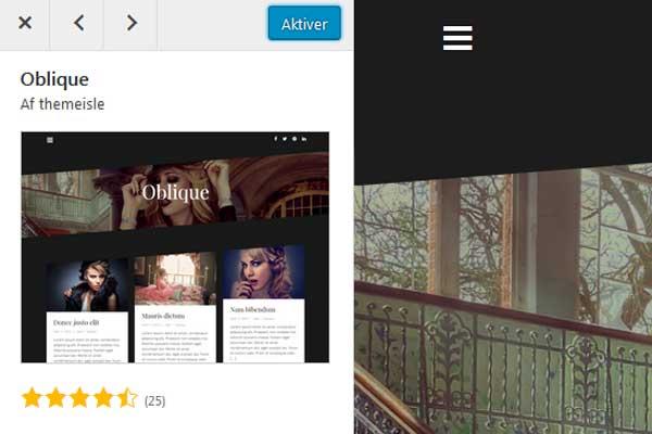 Husk at aktivere dit nye WordPress-tema