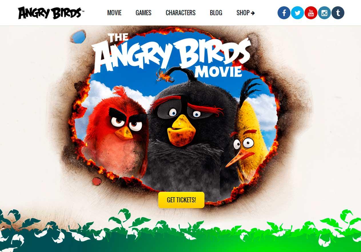 Angry Birds er en flot WordPress-hjemmeside