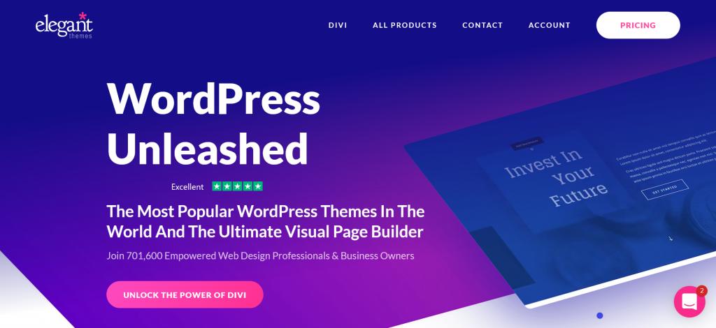 Byg en flot hjemmeside med Divi Theme