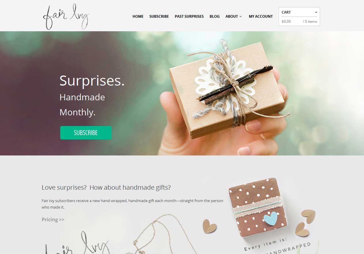 Fairy Ivy's flotte WordPress-hjemmeside