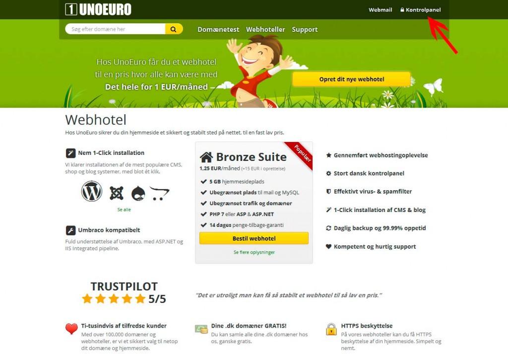 Sådan installerer du WordPress hos UnoEuro