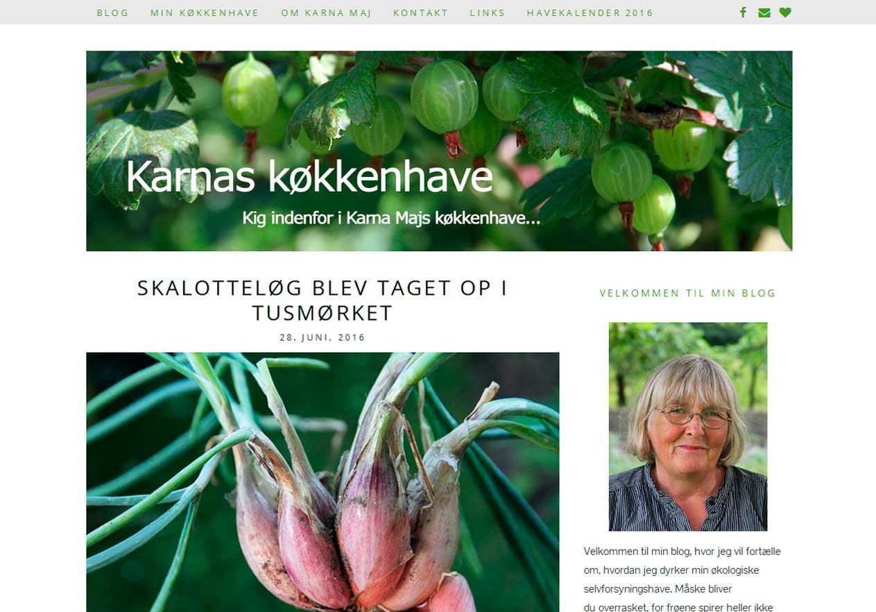 Karnas flotte WordPress-hjemmeside