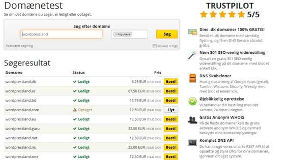 Sådan køber du et domæne og webhotel hos UnoEuro