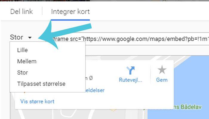 Vaelg Storrelsen Pa Dit Google Kort Frumik