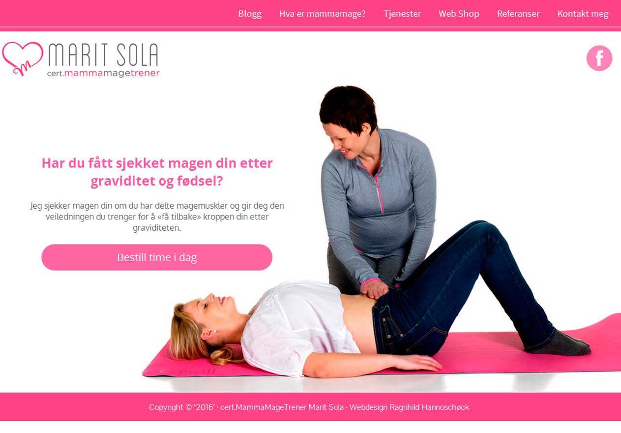 Marit Solas flotte WordPress hjemmeside