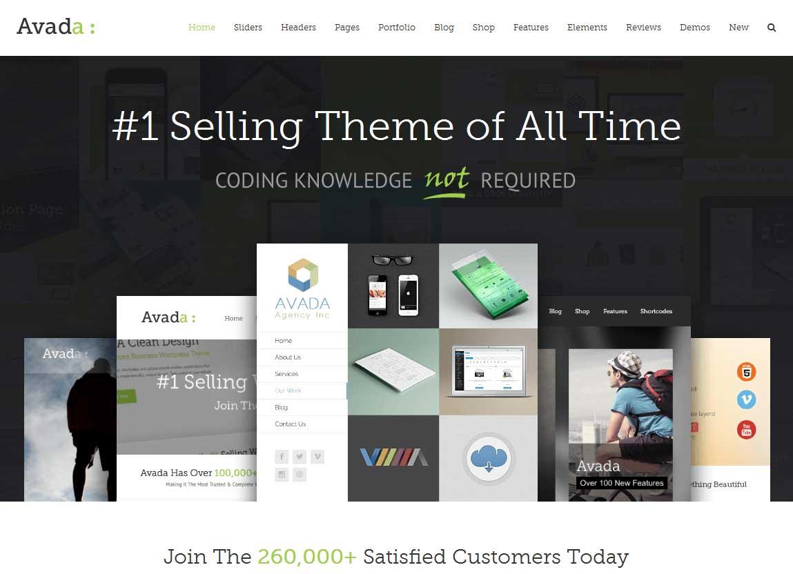 Avada er det populæreste premium WordPress tema