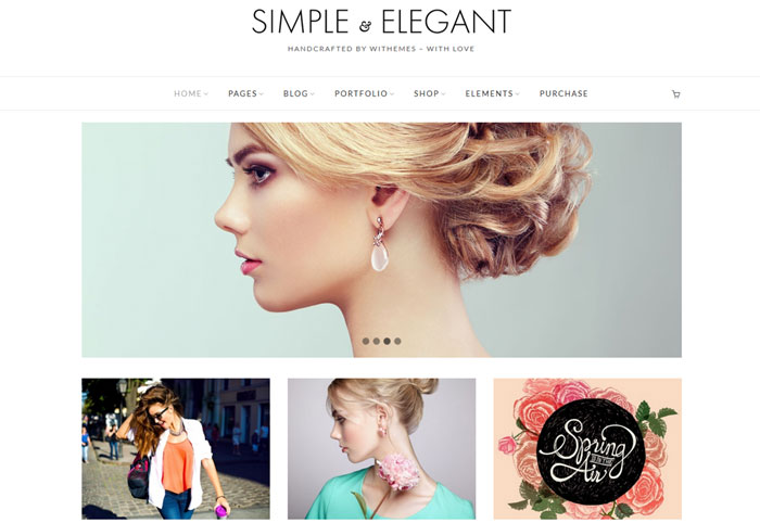 Simple & elegant WordPress tema