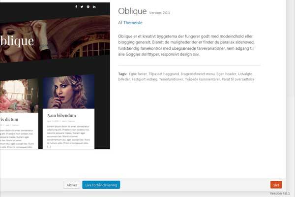 Slet inaktive WordPress-temaer