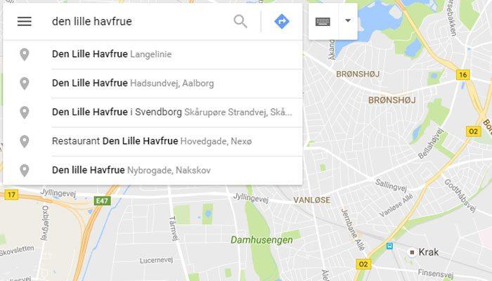 Søg adressen frem på Google-kortet