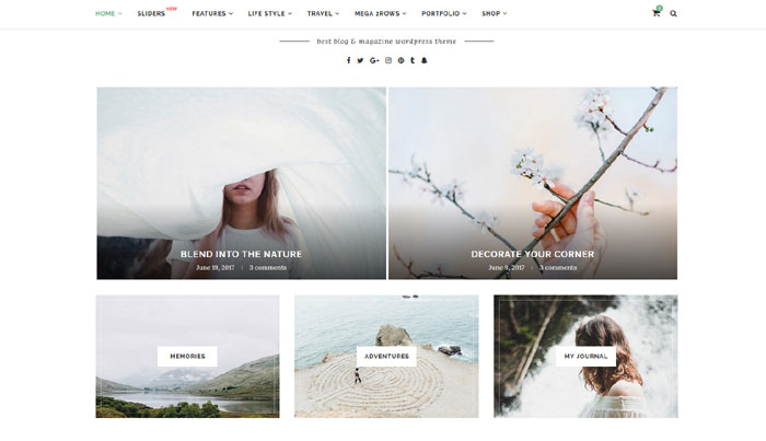 Minimalistisk WordPress tema til magasin eller blog