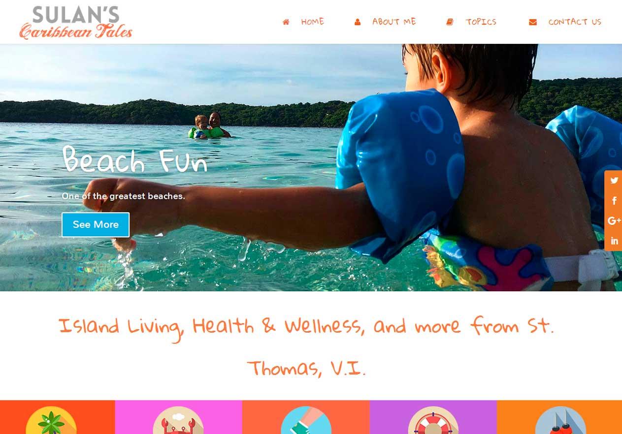 Sulan's Caribbean Tales flotte WordPress hjemmeside