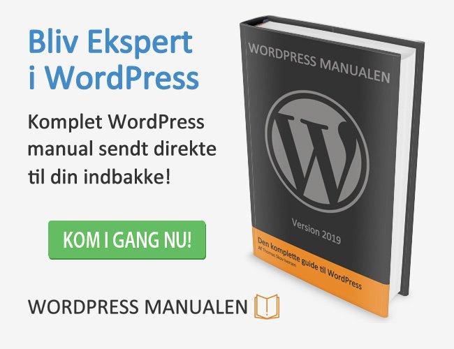 WordPress-manualen hjælper dig godt i gang med at lave din egen WordPress-hjemmeside