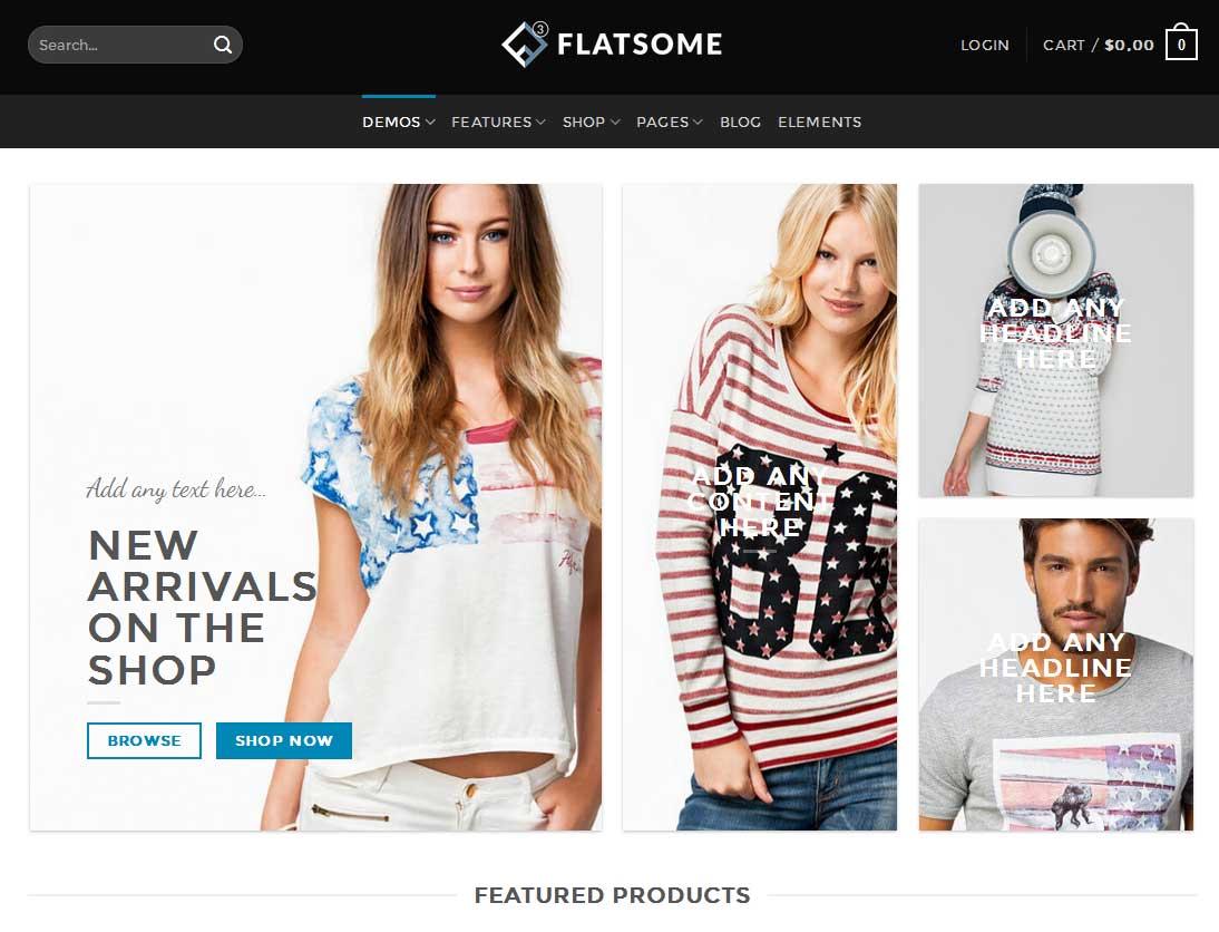 Flatsome er en populær og flot WordPress skabelon som du kan købe