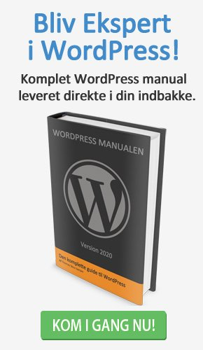 Lær at bygge din egen hjemmeside med WordPress Manualen
